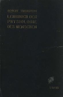 Lehrbuch der physiologie des menschen. 1 Bd.