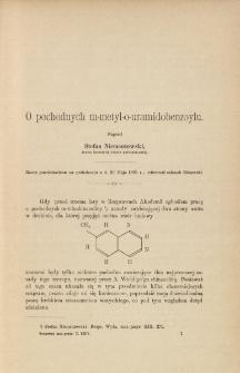 O pochodnych m-metyl-o-uramidobenzoylu