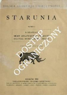 Mchy dyluwjum w Staruni = Diluvial mosses from Starunia