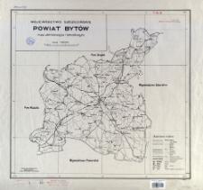 Województwo szczecińskie, powiat Bytów : mapa administracyjna i komunikacyjna : skala 1:100 000