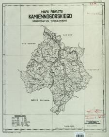 Mapa powiatu kamiennogórskiego, województwo wrocławskie : podziałka 1:100 000