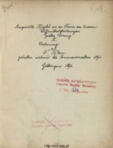 Ausgewählte Kapitel aus der Theorie der linearen Differentialgleichungen zweiter Ordnung. 2, Vorlesung