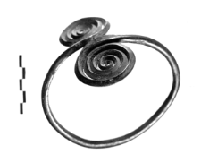 armlet with two spiral discs (Dratów) - metallographic analysis