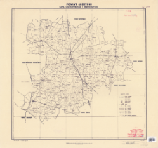 Powiat łęczycki : mapa administracyjna i komunikacyjna : skala 1:100 000