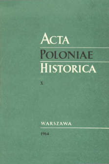 The Royal Prussia Estates in the Second Half of the XVth Century and Their Relation to the Crown of Poland