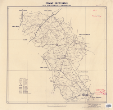 Powiat brzeziński : mapa administracyjna i komunikacyjna : Skala 1:100 000