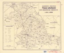 Powiat sokołowski, województwo warszawskie : mapa administracyjna i komunikacyjna w skali 1:100.000