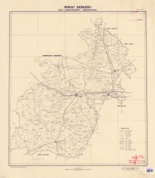 Powiat sieradzki : mapa administracyjna i komunikacyjna : skala 1:100 000
