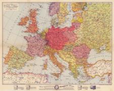 Ravensteins übersichtskarte von Europa 1:8 500 000