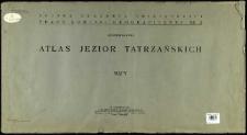 Atlas jezior tatrzańskich : mapy