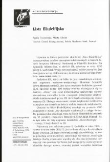Lista filadelfijska