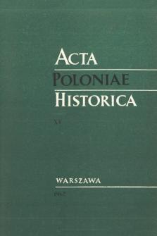 Acta Poloniae Historica T. 15 (1967), Comptes rendus
