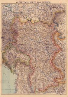G. Freytags Karte von Serbien : Maßstab 1:600.000