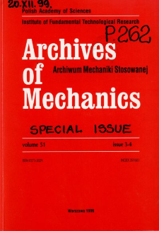 Archives of Mechanics Vol. 51 nr 3-4 (1999)