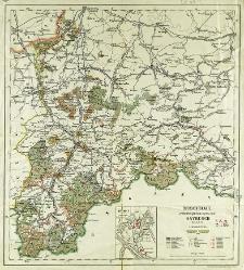 Übersichtskarte der erzherzoglichen Herrschaft Saybusch in Galizien