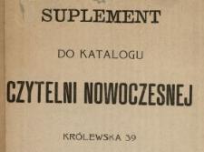 Suplement do katalogu czytelni nowoczesnej, Królewska 39