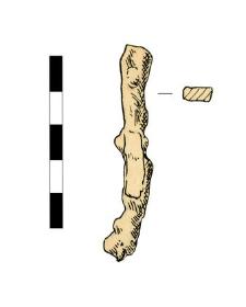 Nail, headless, fragment, corroded