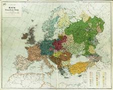 Mapa etnograficzna Europy : skala 1:6 000 000