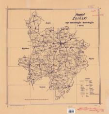 Powiat Żniński : mapa administracyjna i komunikacyjna 1:100.000