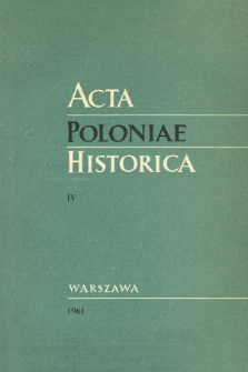 Acta Poloniae Historica T. 4 (1961), Title pages, Contents