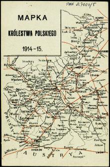 Mapka Królestwa Polskiego 1914-15