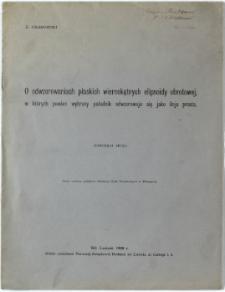 O odwzorowaniach płaskich wiernokątnych eliosoidy obrotowej, w których pewien wybrany południk odwzorowuje się jako linia prosta (Komunikat drugi)