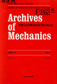 Archives of Mechanics Vol. 51 nr 2 (1999)