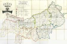 Karte des Krakauer Verwatlungsgebietes