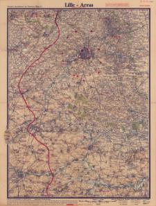 Paasche's Spezialkarten der Westfront (Belgien und Frankreich) : Maßstab 1:105 000. Blatt 2, Lille - Arras