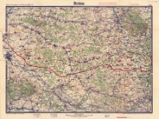 Paasche's Spezialkarten der Westfront (Belgien und Frankreich) : Maßstab 1:105 000. Blatt 6, Reims