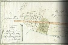 Charte von dem Klodnitz - Canal und denen durchdenselben verlohren gegangenen Grundstücken auf. petersdorffer und Przischoffker Territorio, dem Herrn Baron v Welczek gehörig von Schleuse Nro XVI bis an die Tarnowitzer Strasse