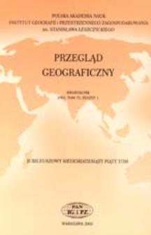 Przegląd Geograficzny T. 75 z. 1 (2003)