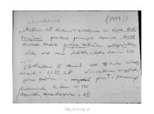 Warszawa 1444-1474. Kartoteka powiatu warszawskiego w średniowieczu. Kartoteka Słownika historyczno-geograficznego Mazowsza w średniowieczu