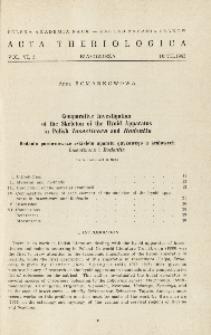 Comparative investigation of the skeleton of the hyoid apparatus in Polish Insectivora and Rodentia; Badania porównawcze szkieletu aparatu gnykowego u krajowych Insectivora i Rodentia