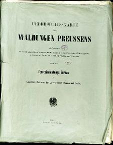 Uebersichts-Karte von den Waldungen Preussens
