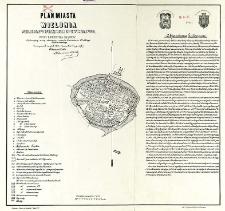 Plan miasta Wielunia według mappy sporządzonej m-ca stycznia 1799 r. przez konduktora Grappow : wykazujący mury obronne z czasów Kazimierza Wielkiego Króla Polskiego