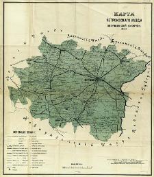 Karta petrokovskago uezda petrokovskoj gubernii sostovlena soglasno novejšim dannym