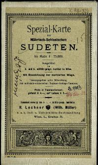 Spezial-Karte der Mährisch-Schlesischen Sudeten