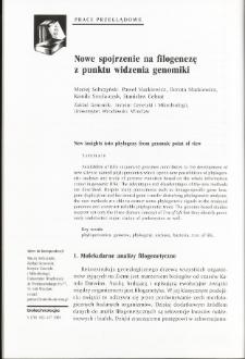 Nowe spojrzenie na filogenezę z punktu widzenia genomiki