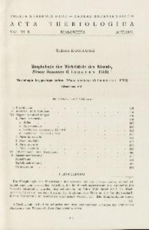 Bisoniana VII. Morphologie der Wirbelsäule des Wisents, Bison bonasus (Linnaeus 1758); Bisoniana VII. Morfologia kręgosłupa żubra, Bison bonasus (Linnaeus 1758)