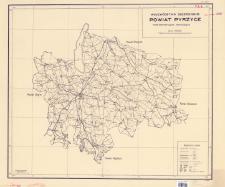 Województwo szczecińskie, powiat Pyrzyce : mapa administracyjna i komunikacyjna : skala 1:100 000