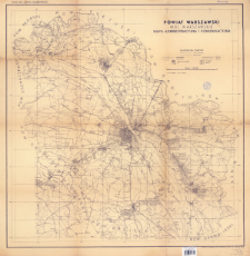 Powiat warszawski, woj. warszawskie : mapa administracyjna i komunikacyjna : skala 1:100 000
