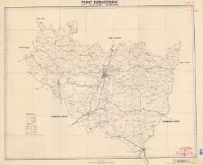 Powiat radomszczański : mapa administracyjna i komunikacyjna : skala 1:100.000