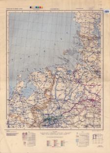 Railroad map of Germany 1:750,000. Sheet 1, Hamburg