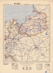 Railroad map of Germany 1:750,000. Sheet 3, Königsberg