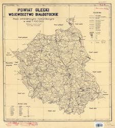Powiat olecki, województwo białostockie : mapa administracyjna i komunikacyjna w skali 1:100 000