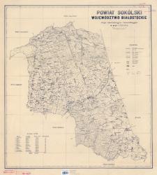 Powiat sokólski, województwo białostockie : mapa administracyjna i komunikacyjna w skali 1:100 000