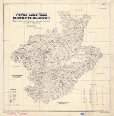 Powiat łomżyński, województwo białostockie : mapa administracyjna i komunikacyjna w skali 1:100 000