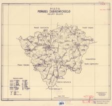 Mapa powiatu ząbkowickiego : Dolny Śląsk : podziałka 1:100.000