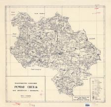 Województwo lubelskie, powiat Chełm : mapa administracyjna i komunikacyjna skala 1:100000